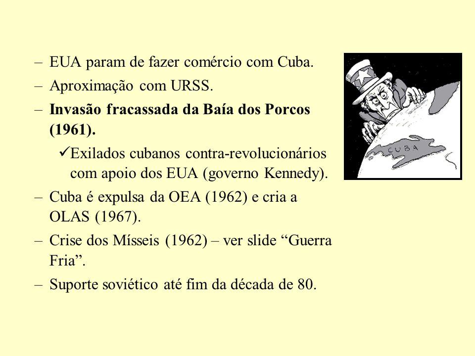 EUA param de fazer comércio com Cuba.