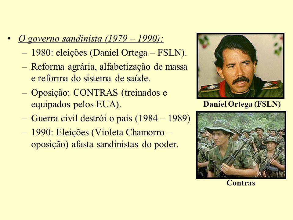 O governo sandinista (1979 – 1990):
