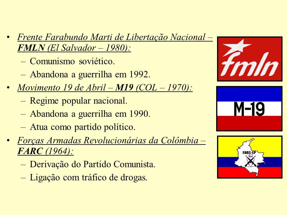 Frente Farabundo Marti de Libertação Nacional – FMLN (El Salvador – 1980):
