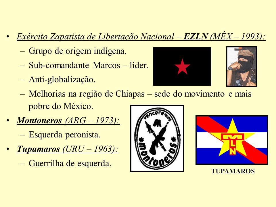 Exército Zapatista de Libertação Nacional – EZLN (MÉX – 1993):