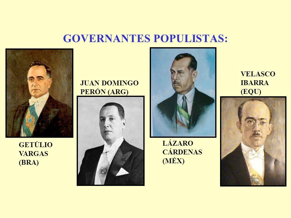 GOVERNANTES POPULISTAS: