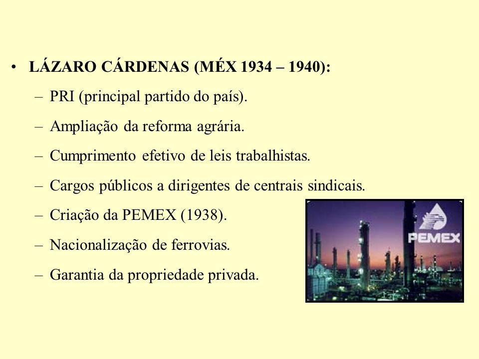 LÁZARO CÁRDENAS (MÉX 1934 – 1940):