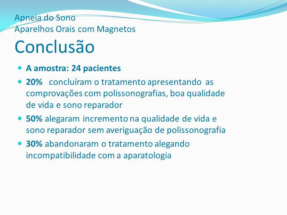 Apneia do Sono Aparelhos Orais com Magnetos Conclusão