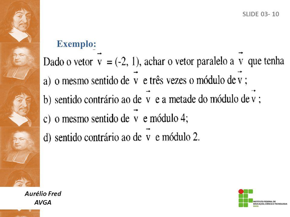 SLIDE 03- 10 Exemplo: Aurélio Fred AVGA