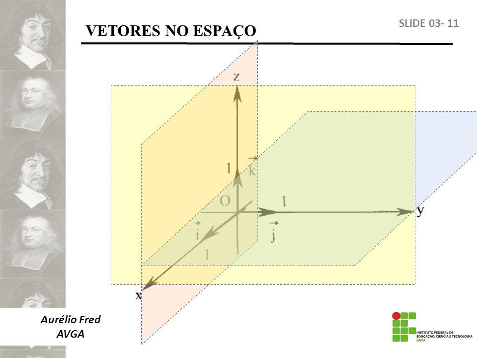 VETORES NO ESPAÇO SLIDE 03- 11 Aurélio Fred AVGA