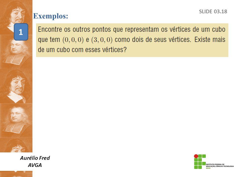 Exemplos: SLIDE 03.18 1 Aurélio Fred AVGA