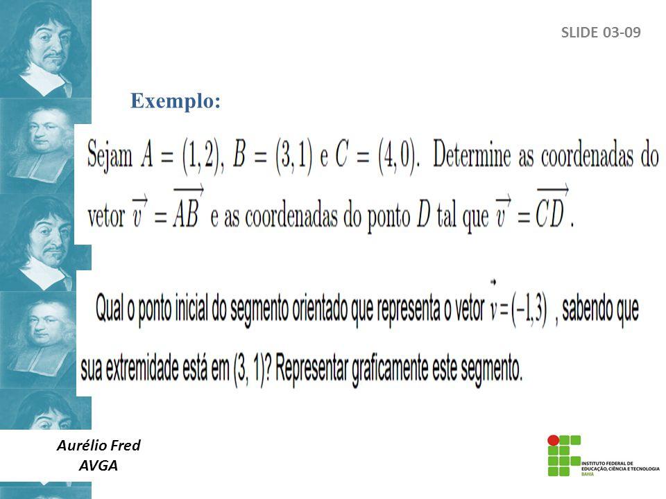 SLIDE 03-09 Exemplo: Aurélio Fred AVGA