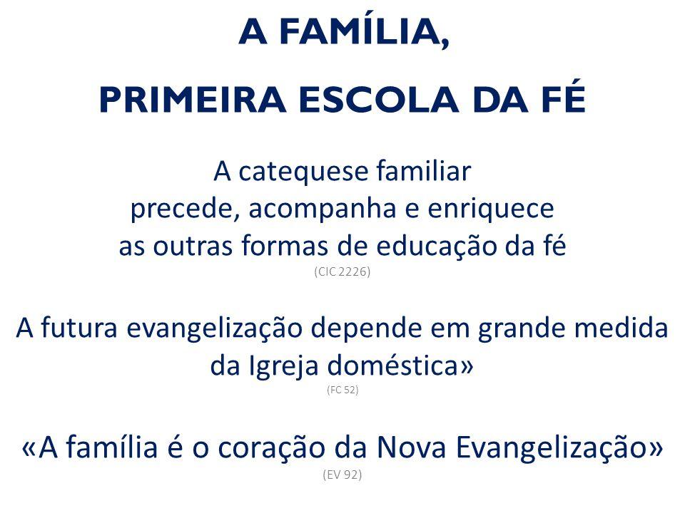 A FAMÍLIA, PRIMEIRA ESCOLA DA FÉ