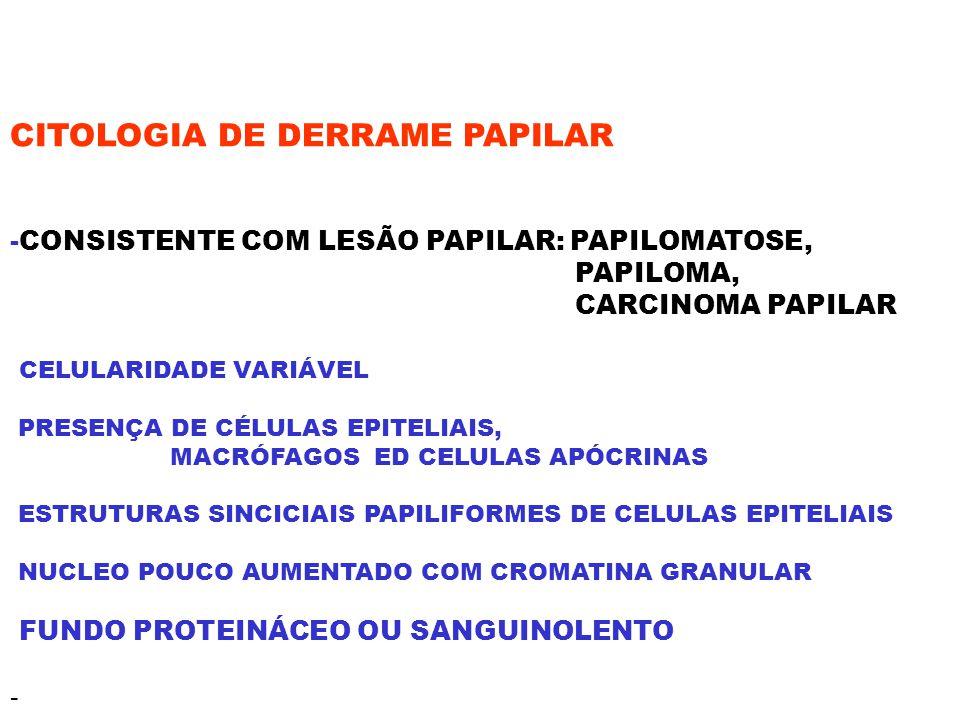CITOLOGIA DE DERRAME PAPILAR