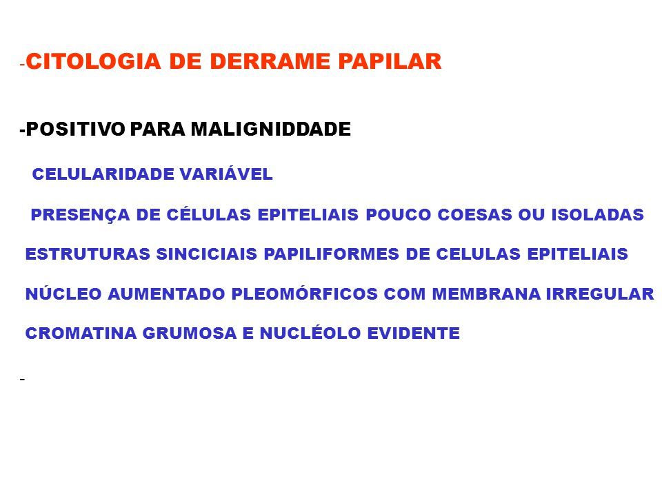 -CITOLOGIA DE DERRAME PAPILAR