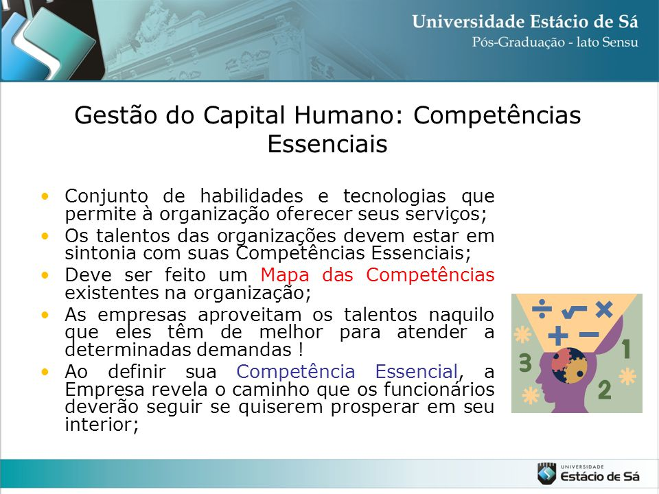 Gestão do Capital Humano: Competências Essenciais