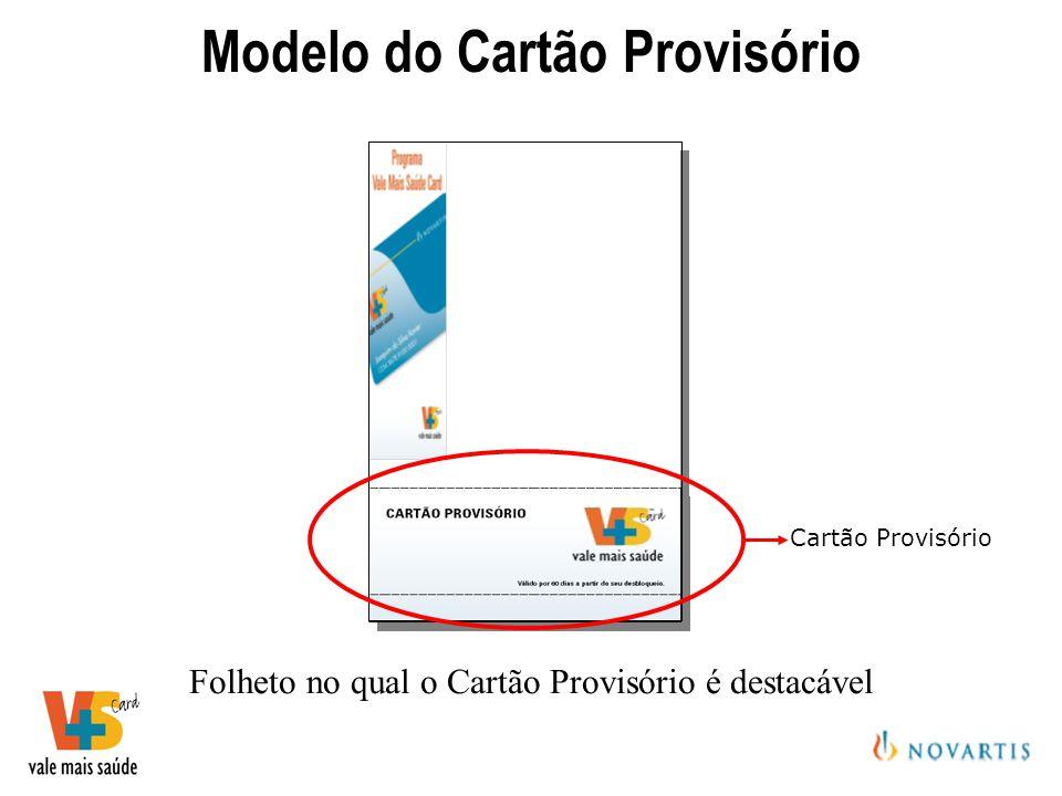 Modelo do Cartão Provisório