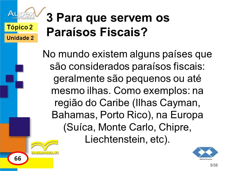 3 Para que servem os Paraísos Fiscais