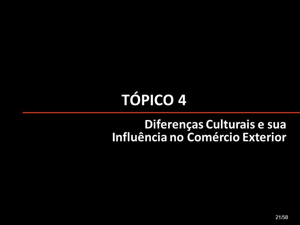 TÓPICO 4 Diferenças Culturais e sua Influência no Comércio Exterior