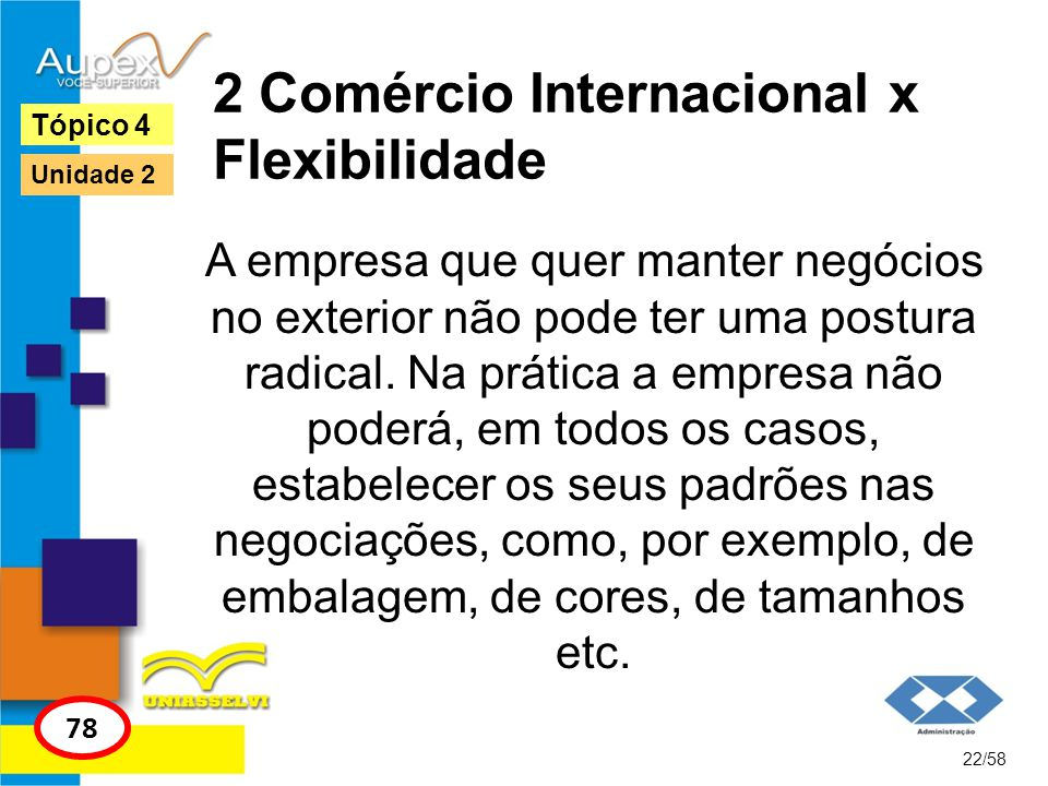 2 Comércio Internacional x Flexibilidade