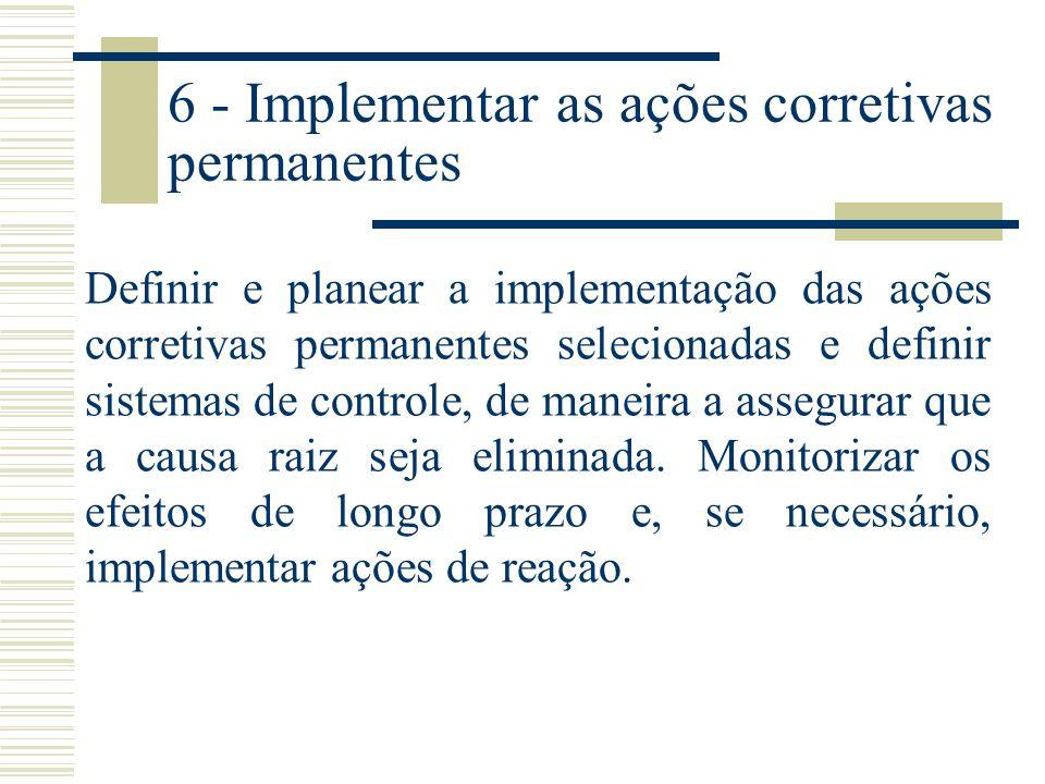 6 - Implementar as ações corretivas permanentes