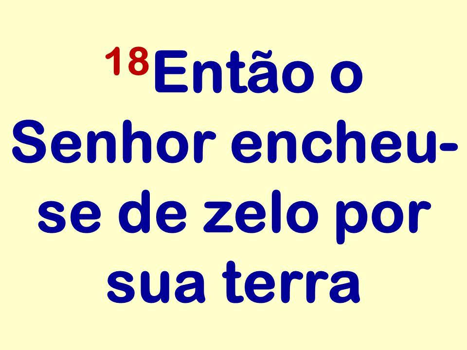 18Então o Senhor encheu-se de zelo por sua terra