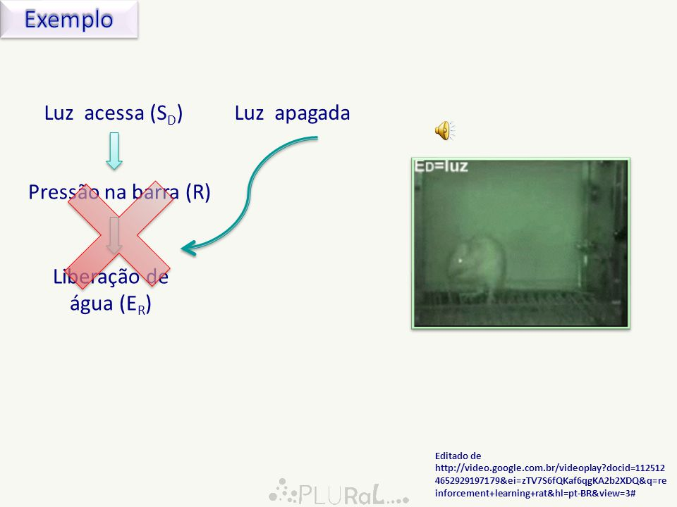 Exemplo Luz acessa (SD) Luz apagada Pressão na barra (R)