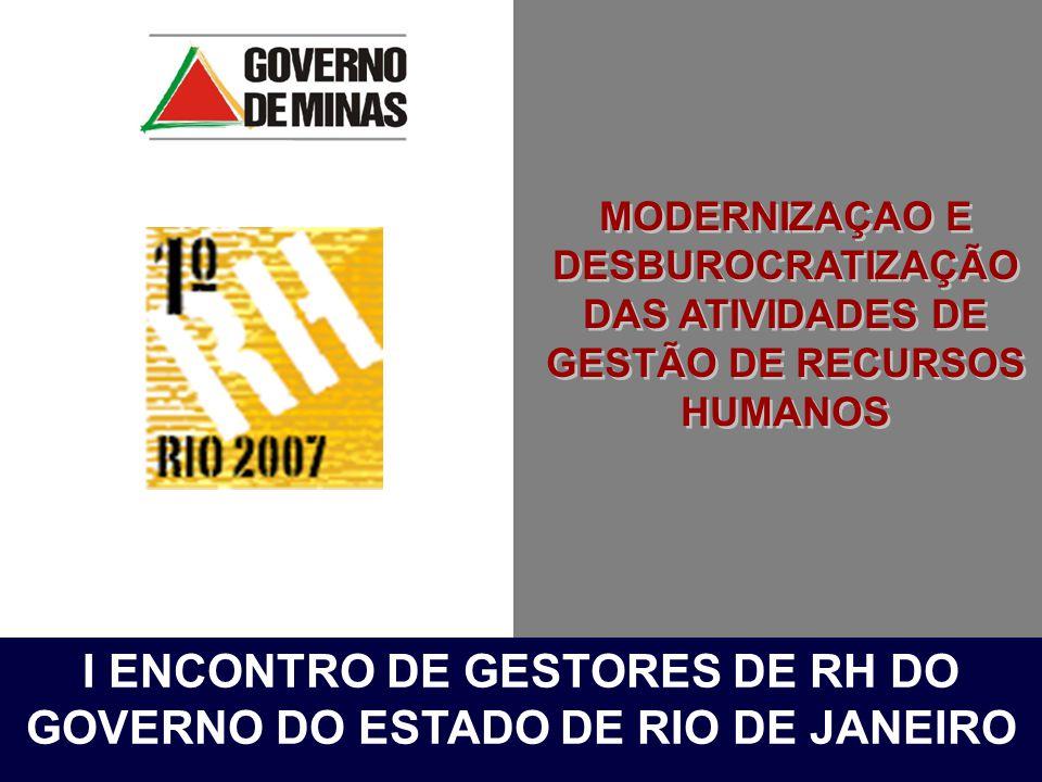 I ENCONTRO DE GESTORES DE RH DO GOVERNO DO ESTADO DE RIO DE JANEIRO