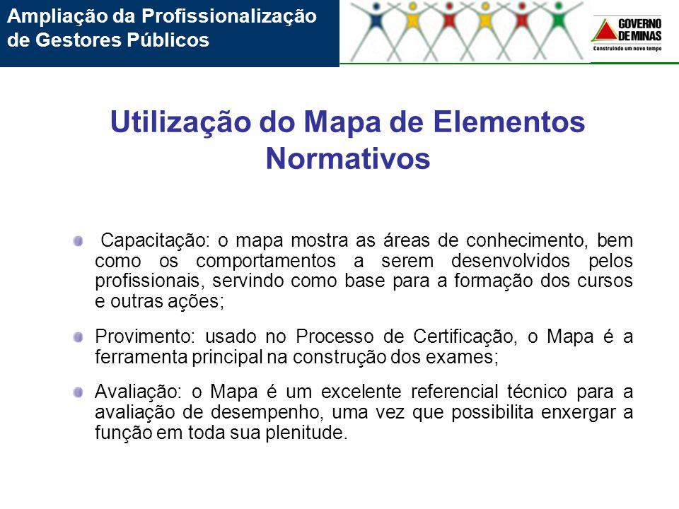 Utilização do Mapa de Elementos Normativos