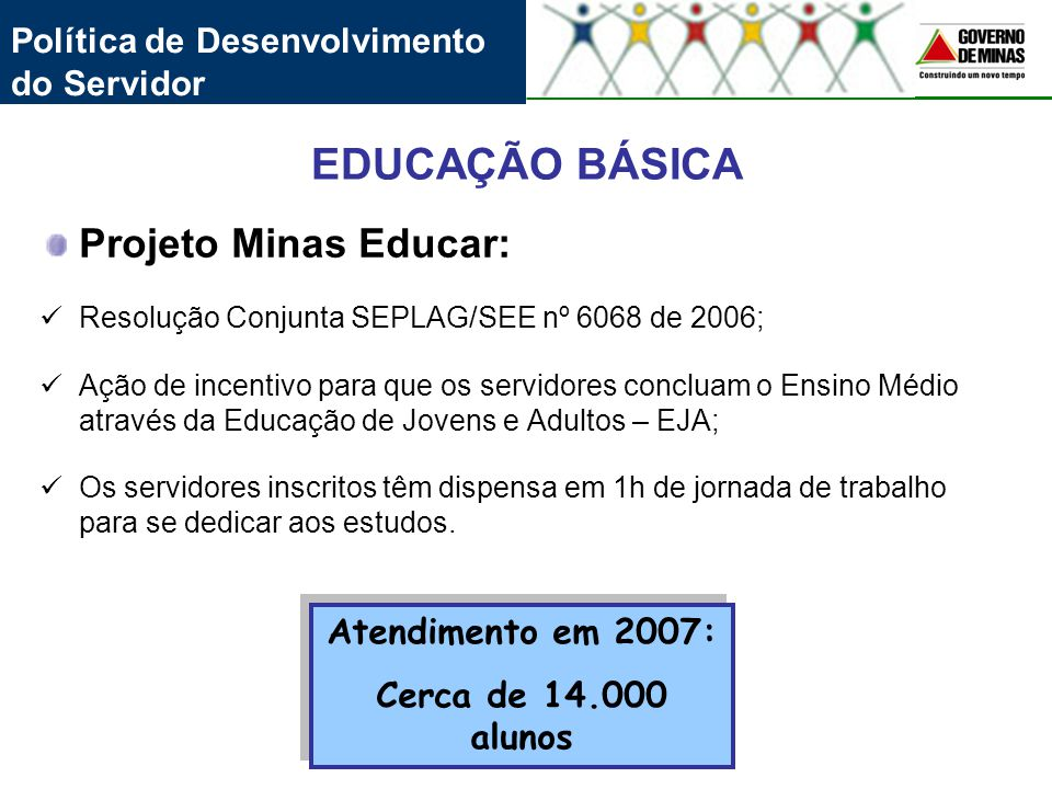 EDUCAÇÃO BÁSICA Projeto Minas Educar: