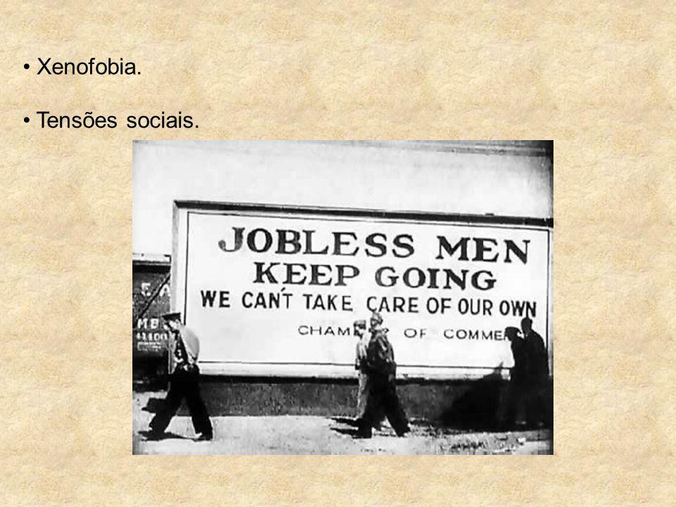 Xenofobia. Tensões sociais.