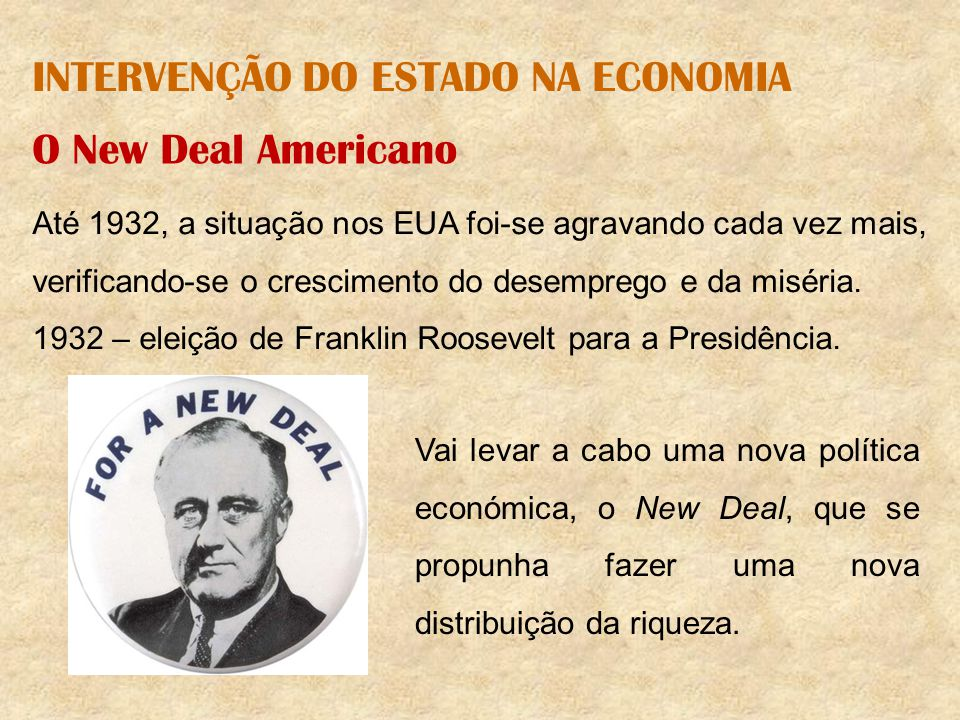 INTERVENÇÃO DO ESTADO NA ECONOMIA