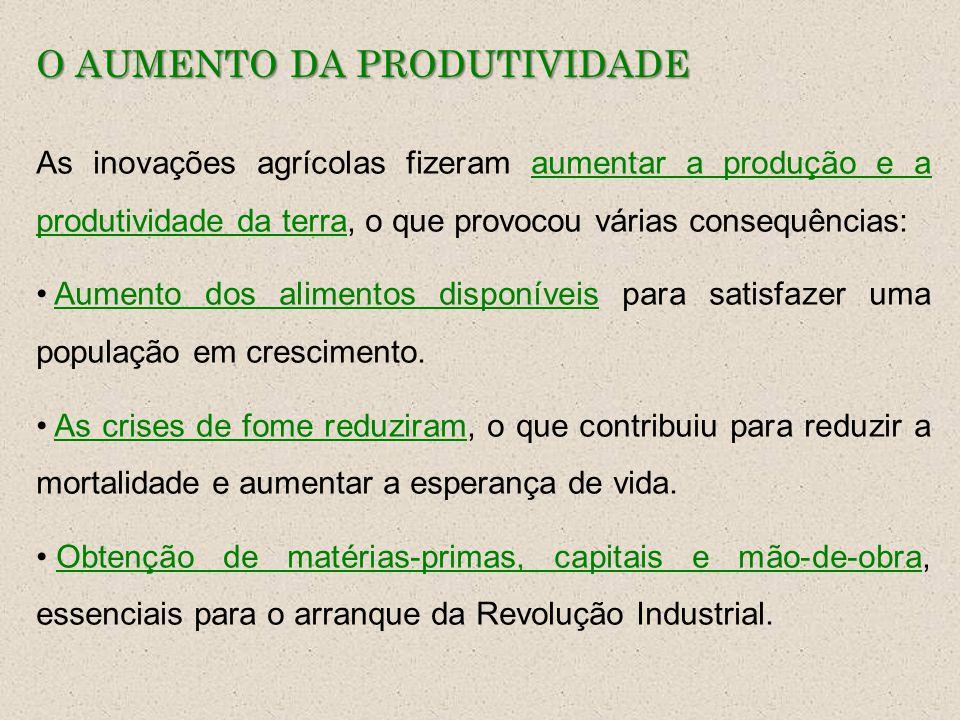 O AUMENTO DA PRODUTIVIDADE