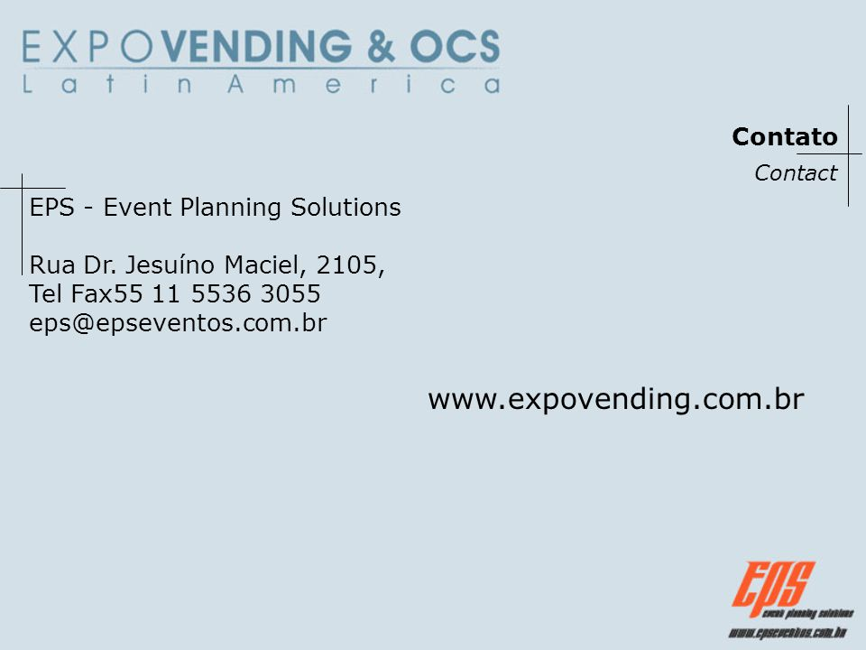 www.expovending.com.br Contato EPS - Event Planning Solutions