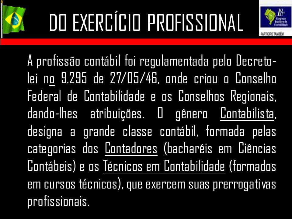 DO EXERCÍCIO PROFISSIONAL