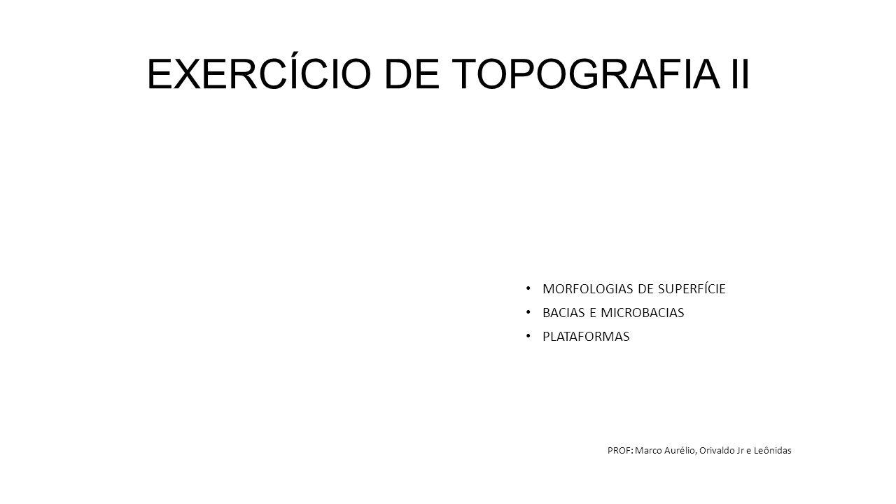 EXERCÍCIO DE TOPOGRAFIA II