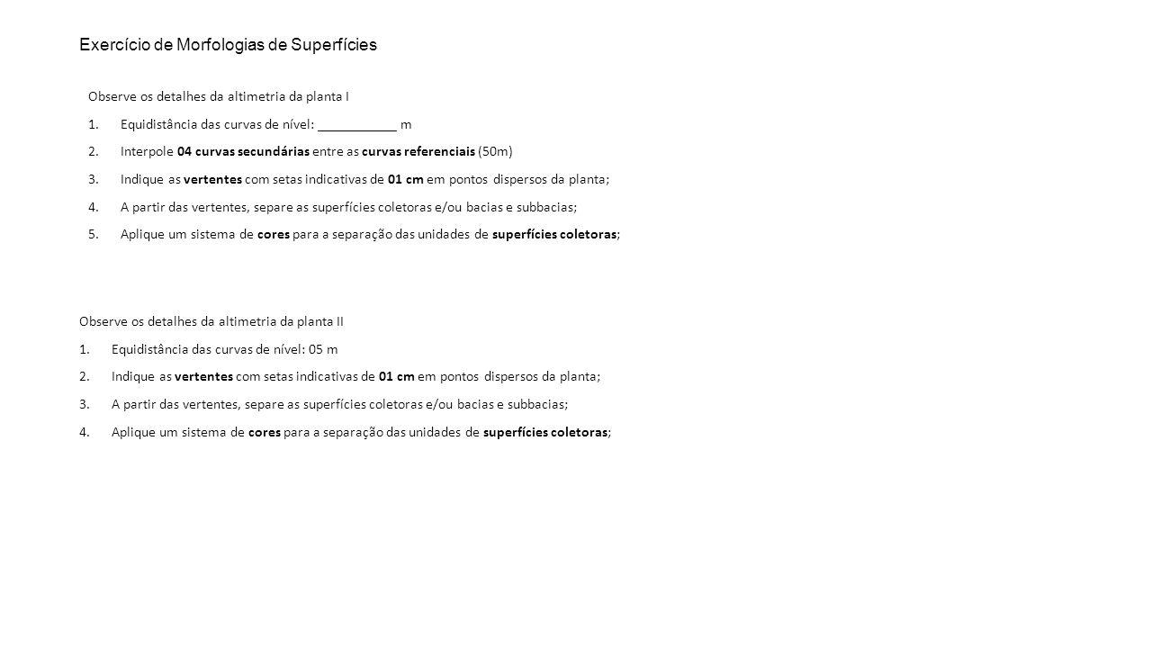 Exercício de Morfologias de Superfícies