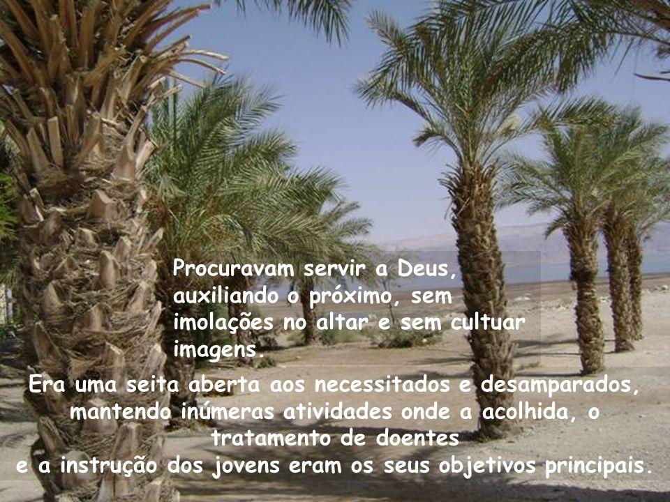 Procuravam servir a Deus, auxiliando o próximo, sem imolações no altar e sem cultuar imagens.