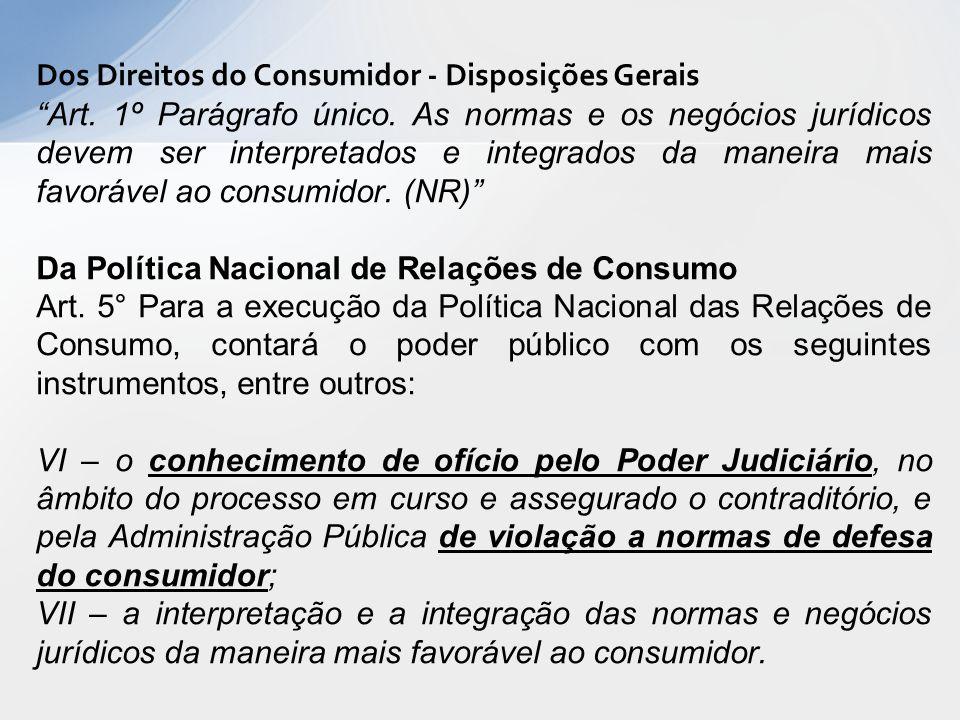 Dos Direitos do Consumidor - Disposições Gerais