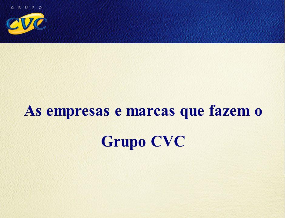 As empresas e marcas que fazem o Grupo CVC