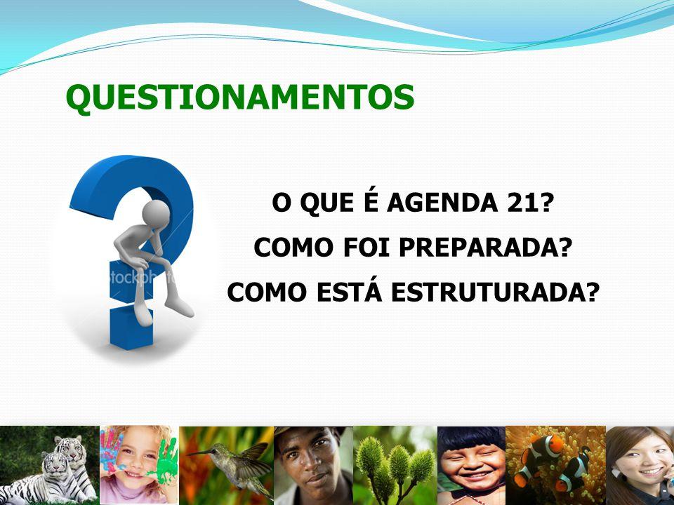 QUESTIONAMENTOS O QUE É AGENDA 21 COMO FOI PREPARADA