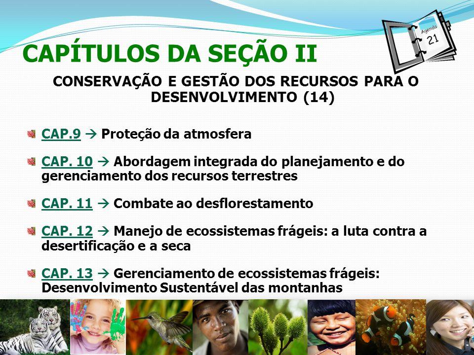 CONSERVAÇÃO E GESTÃO DOS RECURSOS PARA O DESENVOLVIMENTO (14)