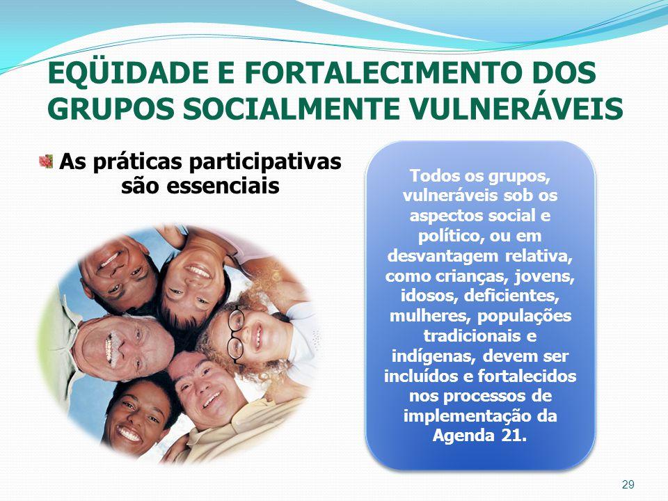 As práticas participativas são essenciais