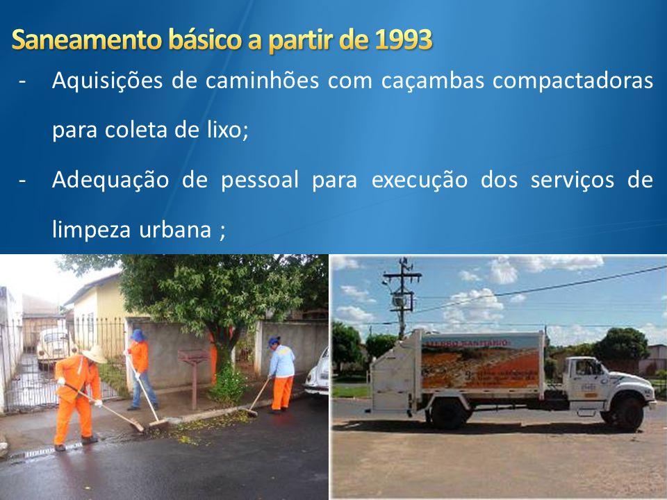 Saneamento básico a partir de 1993