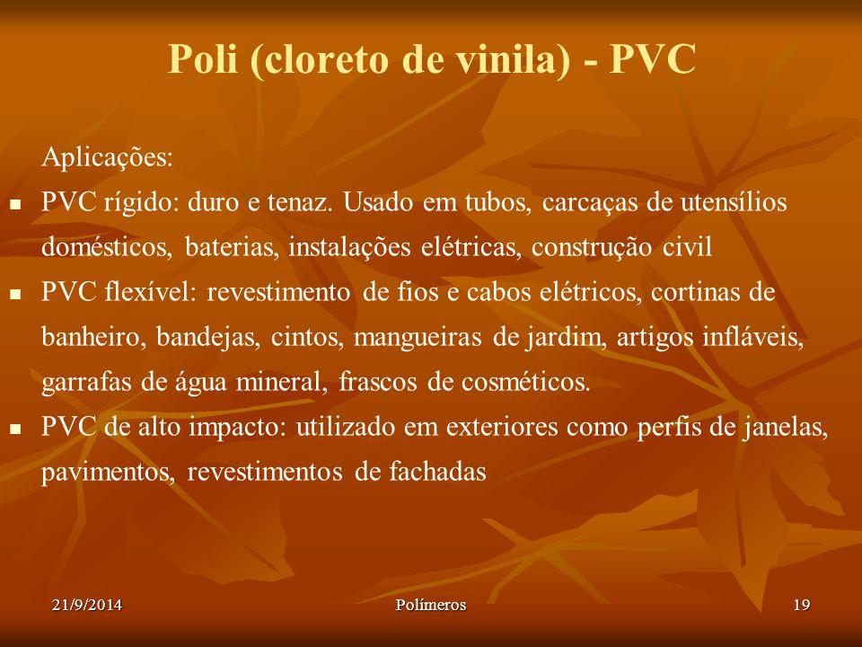 Poli (cloreto de vinila) - PVC