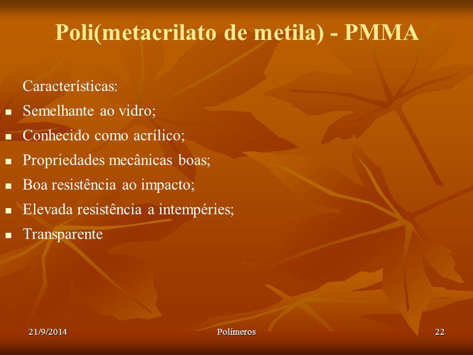 Poli(metacrilato de metila) - PMMA
