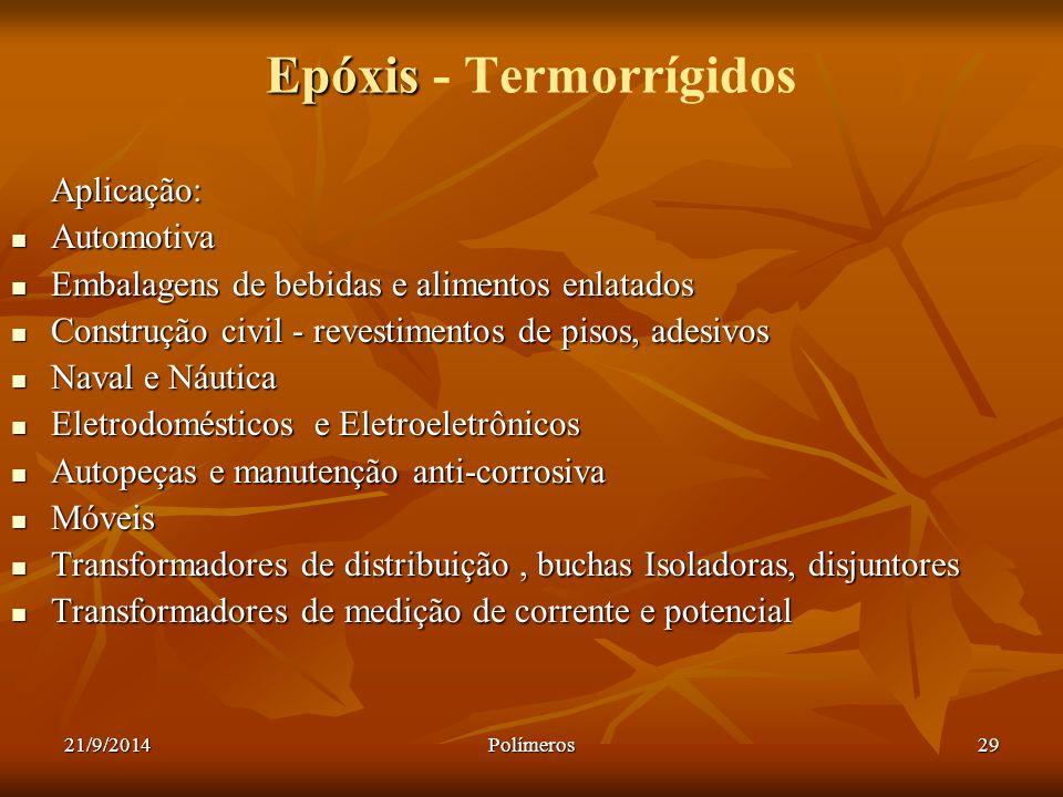 Epóxis - Termorrígidos