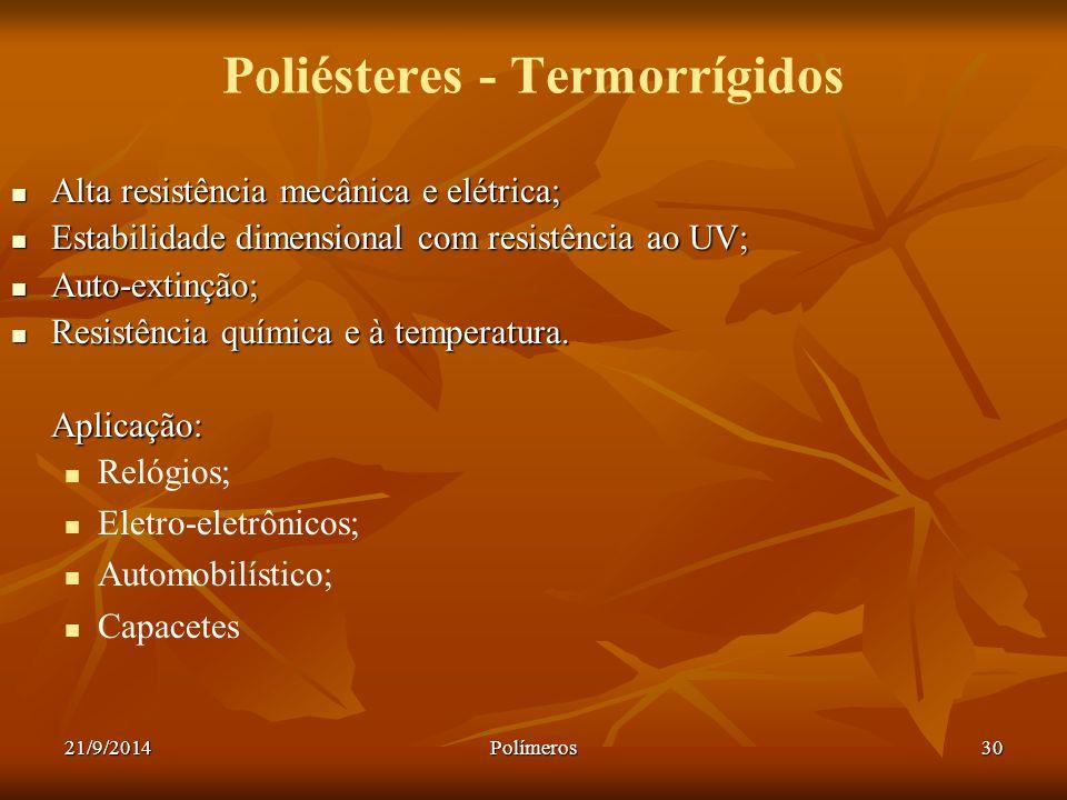 Poliésteres - Termorrígidos