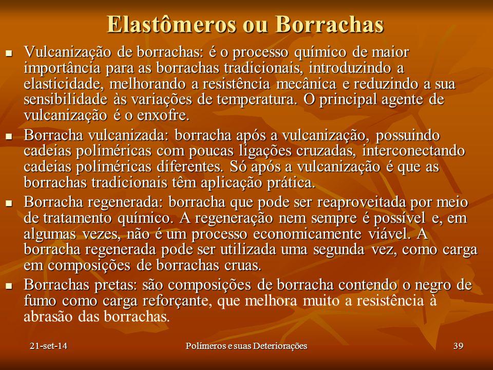 Elastômeros ou Borrachas