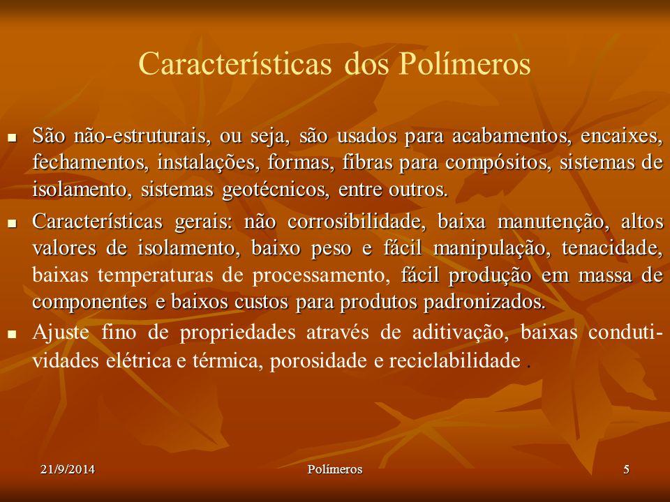 Características dos Polímeros