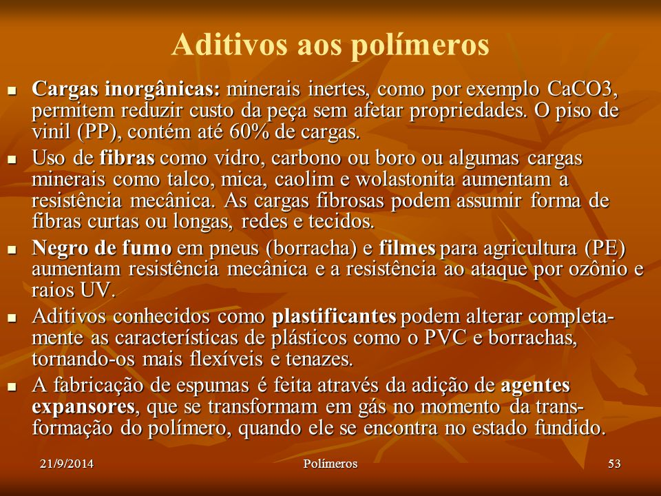 Aditivos aos polímeros