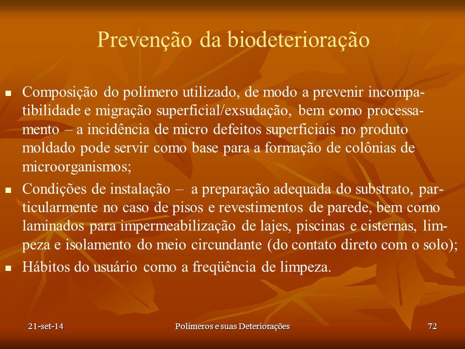 Prevenção da biodeterioração