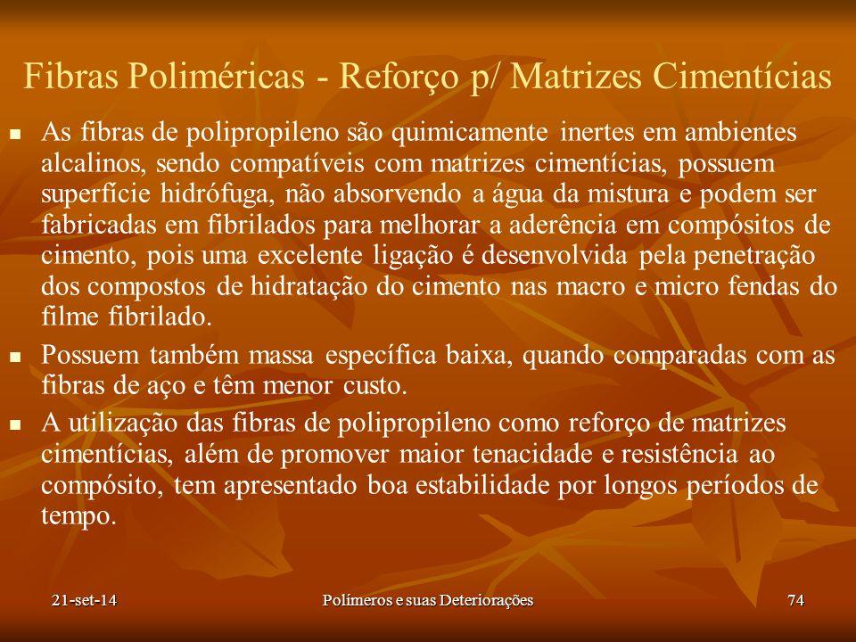 Fibras Poliméricas - Reforço p/ Matrizes Cimentícias