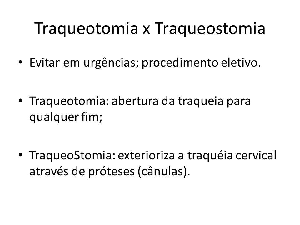 Traqueotomia x Traqueostomia