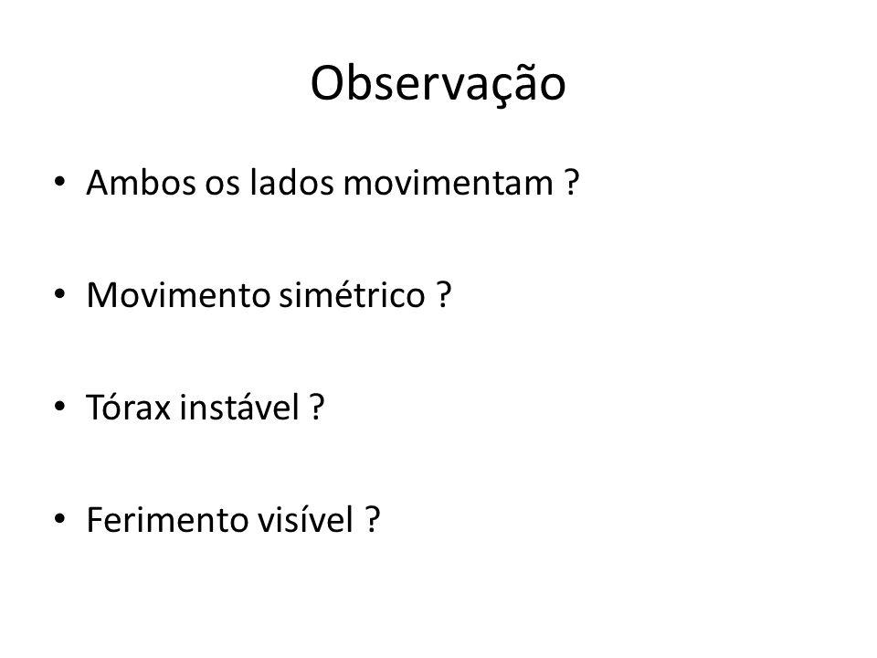 Observação Ambos os lados movimentam Movimento simétrico